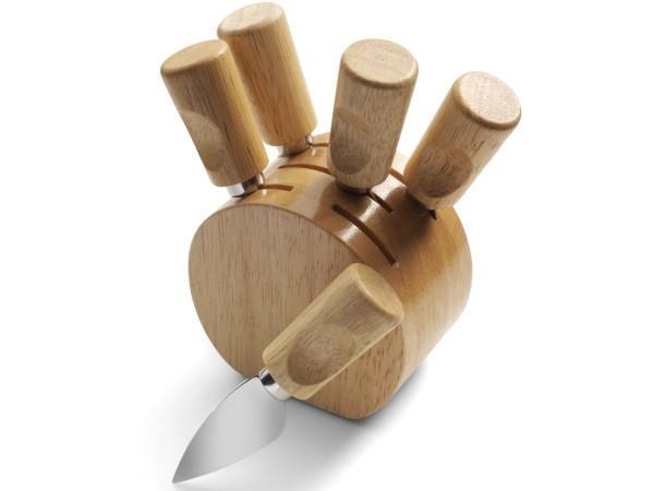 Set Couteaux à Fromage en Bois