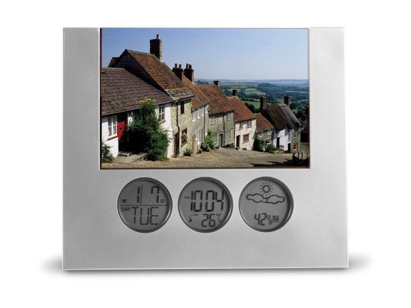 cadeaux ce primes cadre photo horloge station m t. Black Bedroom Furniture Sets. Home Design Ideas