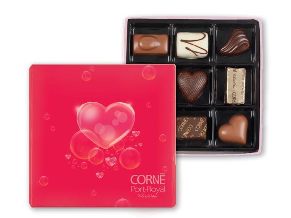 Écrin St-Valentin 9 chocolats