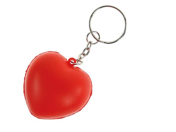 Porte-clés en Coeur Antistress