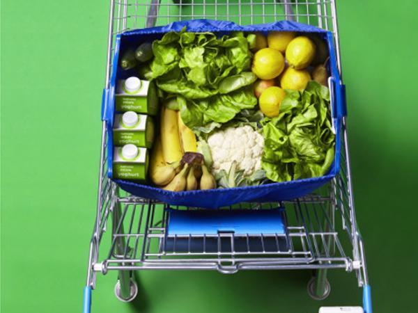 Sac Shopping  Adaptable sur Chariot avec 2 Jetons