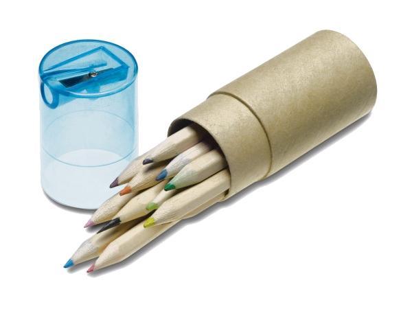 Tube Cartonné de 12 Crayons