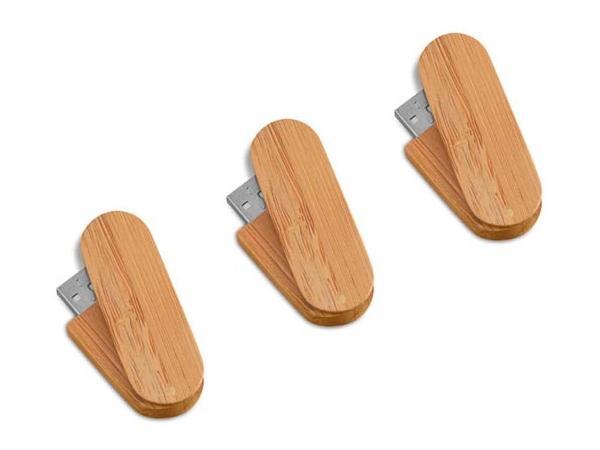 Cle USB Pivotante - Bambou - visuel 1