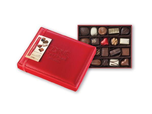 Boîte Cuir Rouge 20 Chocolats