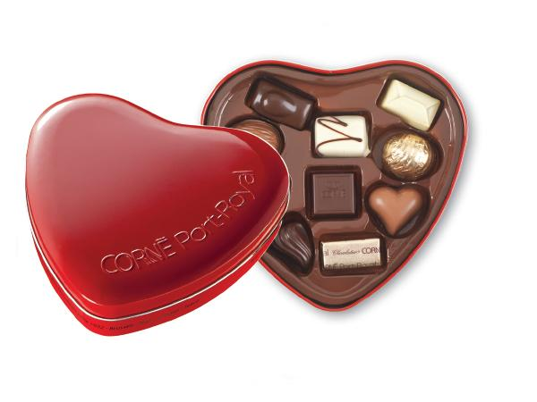 Coeur Métal garni 10 Chocolats
