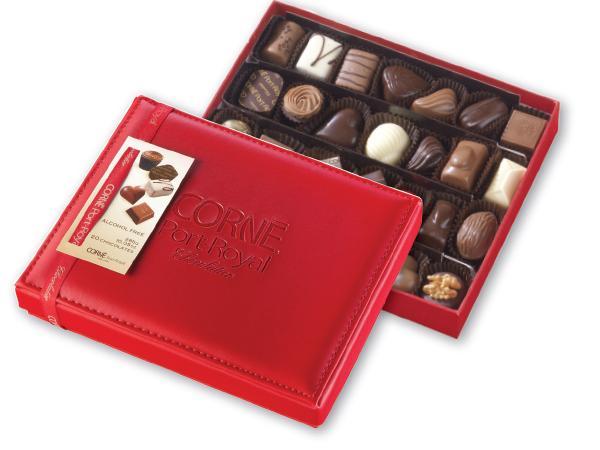 Boîte Cuir Garnie 28 Chocolats