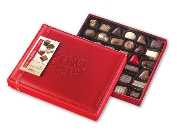 Boîte Cuir Rouge 36 Chocolats