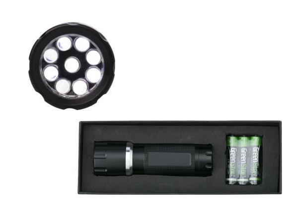 Torche en Métal 9 LEDS