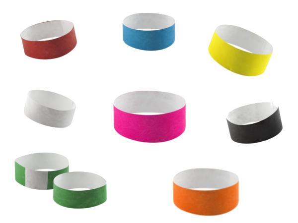 Bracelet Evénements avec Étiquette Auto-Adhésive