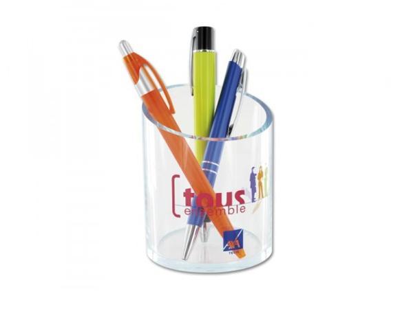 Pot à Crayons Transparent - visuel 2