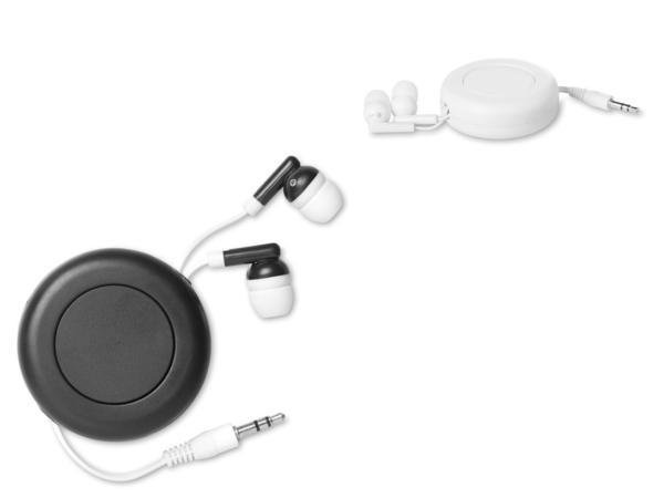 Ecouteurs en PVC noir ou blanc