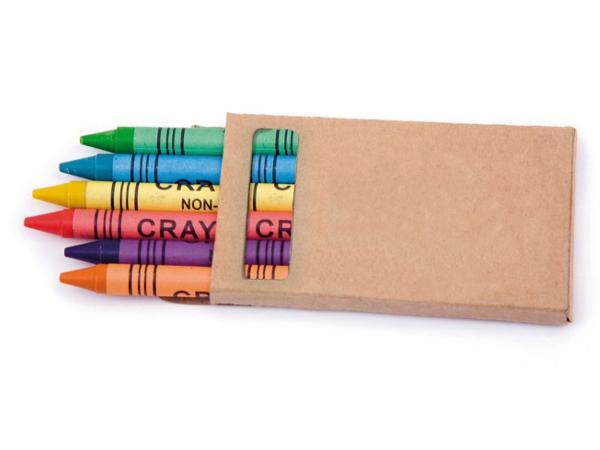Six Crayons Couleurs