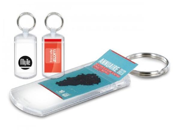 Porte-clés Transparent porte Étiquette