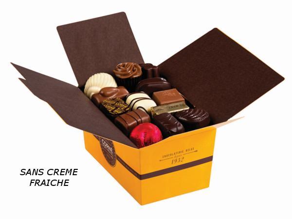 Ballotin 34 chocolats 470g  SANS crème et SANS ALCOOL