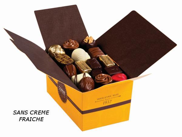 Ballotin 50 chocolats 705g SANS crème et SANS ALCOOL