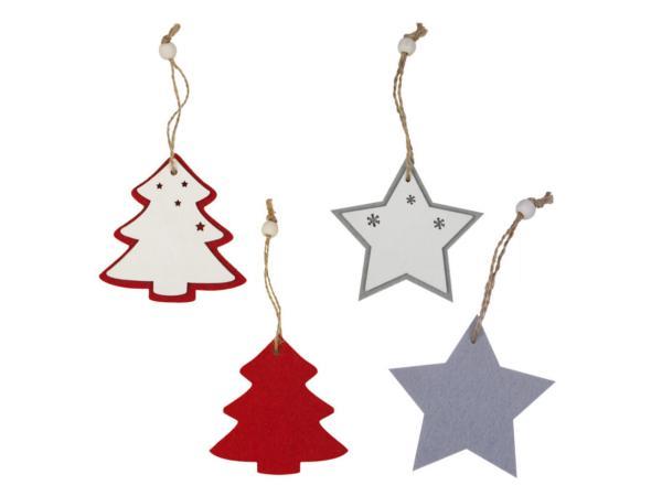 Pendentifs de Noël au choix Sapin ou Etoile