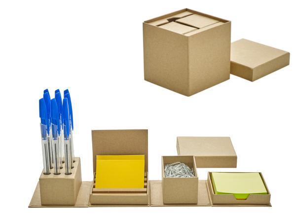 Set de Bureau Compact en Carton