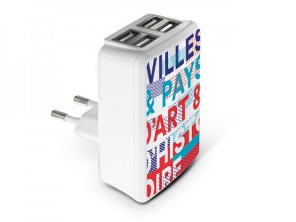 Chargeur Adaptateur USB Led