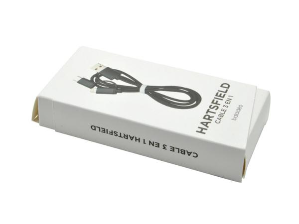 Câble de rechargement USB avec 3 embouts en 1 Noir - visuel 2