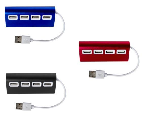 Hub  Equipé de 4 Ports USB 2.0 en Aluminium - visuel 2