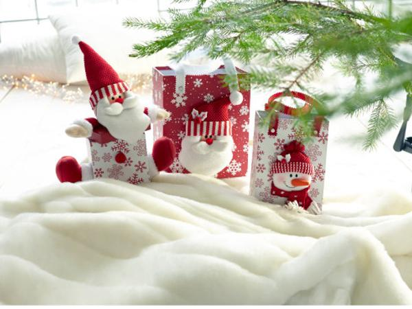 Set de 2 Sacs Cadeaux avec  Figurines de Noel