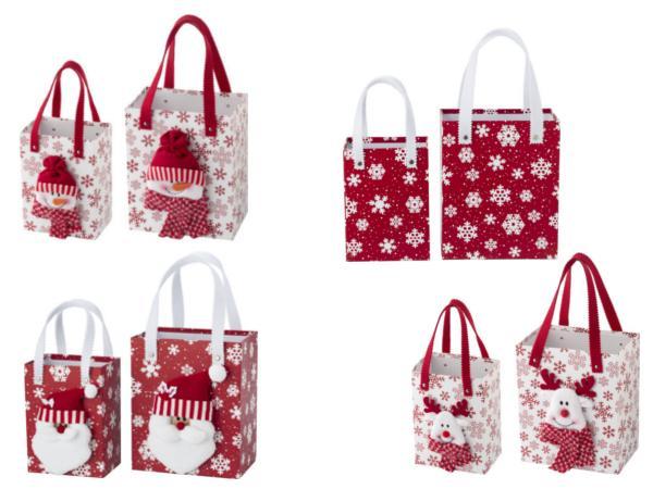 Set de 2 Sacs Cadeaux avec  Figurines de Noel - visuel 2