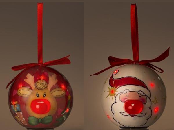 Boule de Noel en Papier Maché avec Led