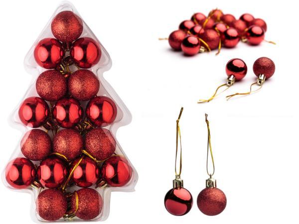 Set de 17 Boules de Noel dans Écrin Transparent
