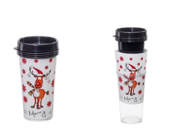 Mug Isotherme Double Paroi Renne de Noël