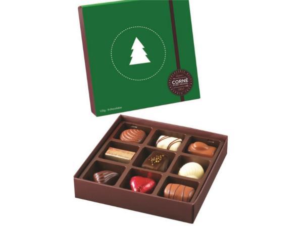Ecrin 9 chocolats Couvercle Noël 123 g