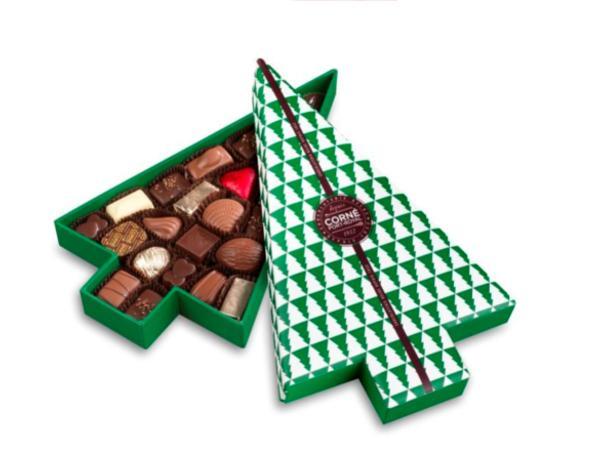 Boîte Sapin de Noël Garnie 23 Chocolats 300G