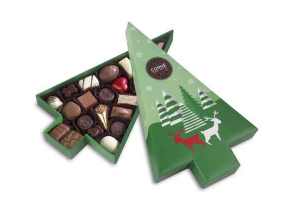 Boîte Sapin de Noël Garnie 23 Chocolats 302G