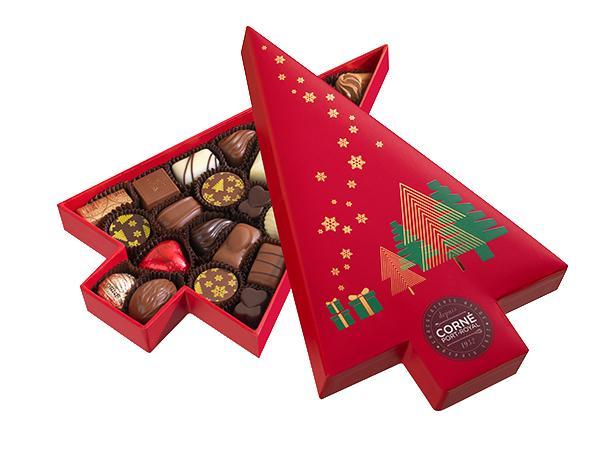 Boîte Sapin de Noël Garnie 23 Chocolats 294G