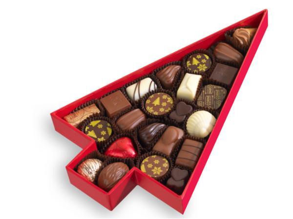 Boîte Sapin de Noël Garnie 23 Chocolats 294G - visuel 3