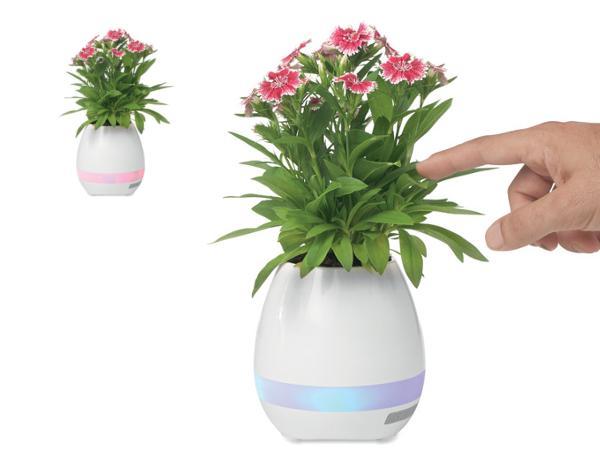 Pot de Fleurs Musical avec Lumière d 'Ambiance et Haut-Parleur - visuel 2