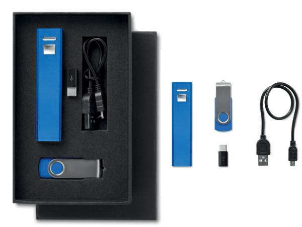 Ensemble Cadeau avec Power Bank 2200 mAh et Clé USB 8GB - visuel 1