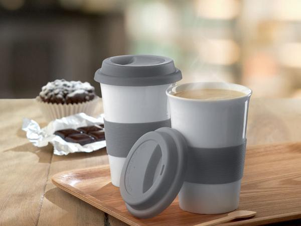 Mug en Céramique Simple Paroi avec un Couvercle - visuel 1