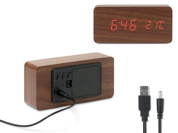 Horloge et Réveil affichage LED  - visuel 2
