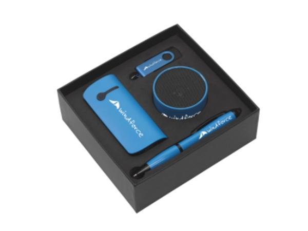Coffret avec Power Bank 4000 mAh, Mini HP, Clé USB 16GO et Stylo