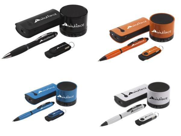 Coffret avec Power Bank 4000 mAh, Mini HP, Clé USB 16GO et Stylo - visuel 2