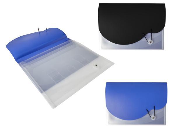 Porte-Documents A4 à Fermeture Elastique avec 3 Compartiments  - visuel 1