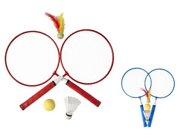 Set de 2 Raquettes de Badminton avec Balle et Volants