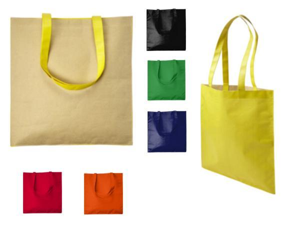 Sac Shopping en Papier Recyclé et Non-Tissé 120g/m2 à Anses Long