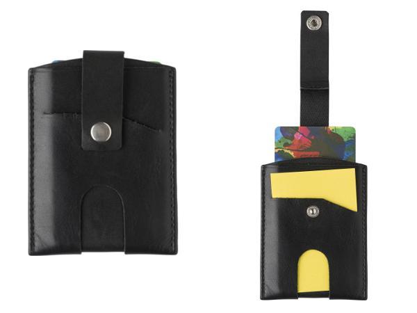 Porte-Carte de Crédit protection RFID en Croûte de Cuir