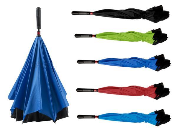 Parapluie Réversible pour ne plus être mouillé en le repliant