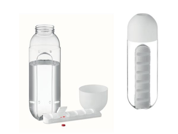 Bouteille de 600 ml avec Pilulier intégré - visuel 2