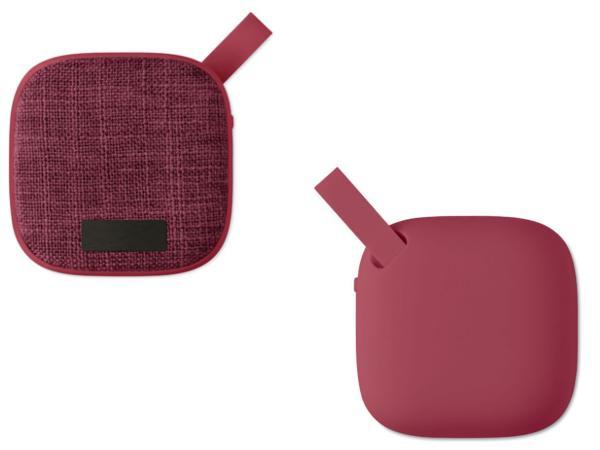 Haut-Parleur Carré Bluetooth revêtement Tissu et Caoutchouc - visuel 3