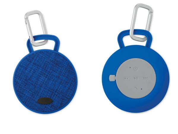 Haut-Parleur Rond Bluetooth Revêtement Tissu et Caoutchouc