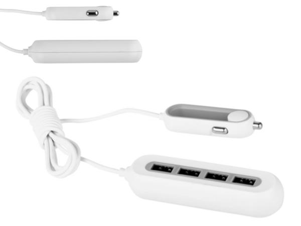 Chargeur de Voiture avec  4 Ports USB dont 1 Port Rapide - visuel 2