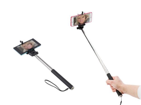 Perche à Selfie Télescopique 116 cm avec Dragonne